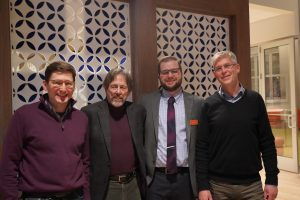 CRGC director Ulrich Rosenhagen and IRG co-leader Dr. Eric Carlsson pose with Dr. Cohen
