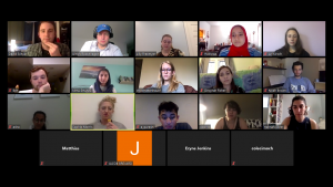 Fellows talk Interfaith over Zoom during the COVID-19 lockdown